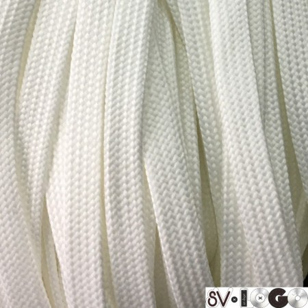 Шнур плоский чехол ПЭ40 10 мм белый (100 метров)