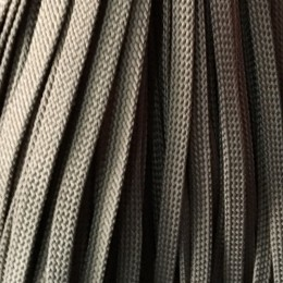 Шнур плоский чехол ПЭ8 мм коричневый (100 метров)