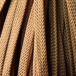 Шнур плоский чехол ПЭ8 мм коричневый светлый (100 метров)