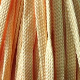 Шнур плоский чехол ПЭ8 мм желтый (100 метров)