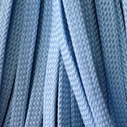 Шнур плоский чехол ПЭ8 мм голубой (100 метров)