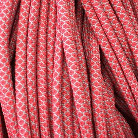 Шнур круглый 6 мм 32 красно белый (100 метров)