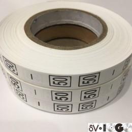 Размерная лента (накатка) 50 (1000 штук)