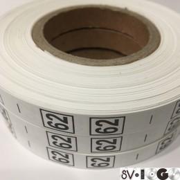 Размерная лента (накатка) 62 (1000 штук)