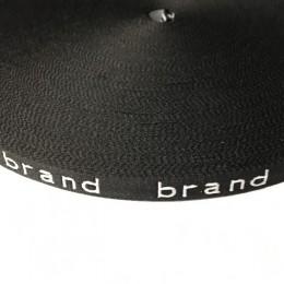 Тесьма с логотипом 10мм brand (50 метров)