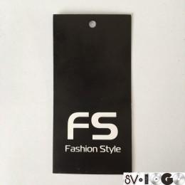 Этикетка картонная 5х10см Fashion Style (1000 штук)