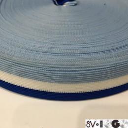 Тесьма окантовочная 30мм голубой белый электрик (100 метров)