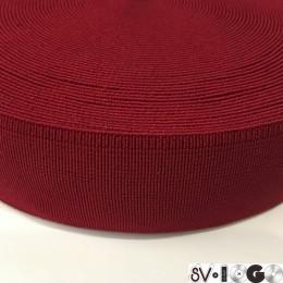Резинка 50мм для пояса красный (25 метров)