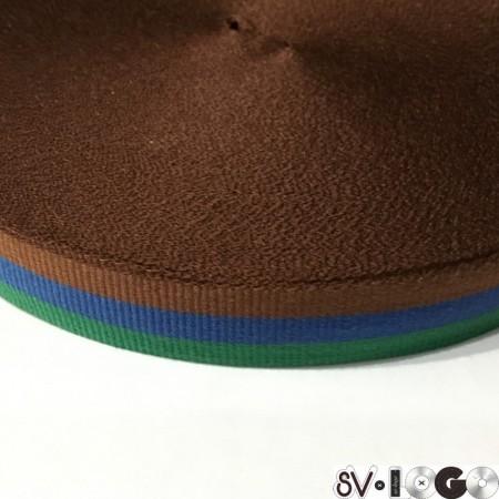 Тесьма репсовая производство 20 мм зеленый синий коричневый (50 метров)