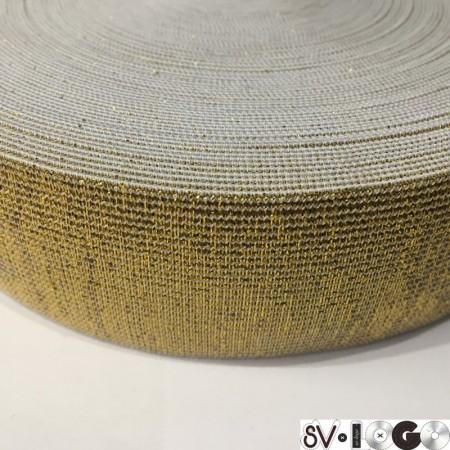 Резинка 40 мм золото (25 метров)