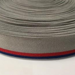 Резинка 30мм серый красная полоска (метр )