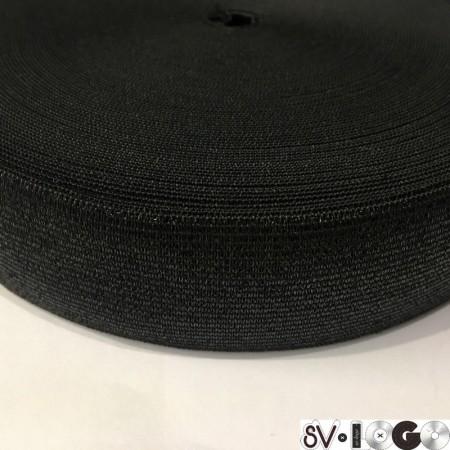 Резинка 30 мм черная люрекс (25 метров)