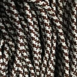 Шнур круглый ПЭ6х16 5мм коричневый белый (100 метров)