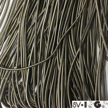 Резинка шнур производство 2,5 см коричневый бежевый (50 метров)