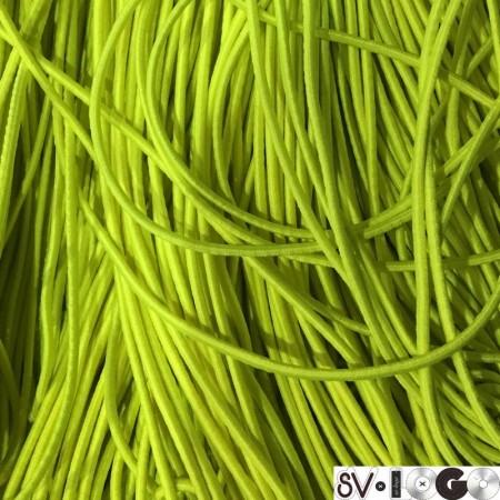 Резинка шнур производство 2,5 см салатовый неон (50 метров)