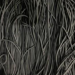 Резинка шнур производство 2,5см серый темный (50 метров)