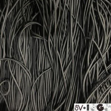 Резинка шнур производство 2,5 см серый темный (50 метров)