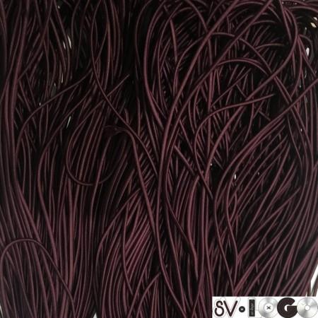 Резинка шнур производство 2,5 см бордо (50 метров)