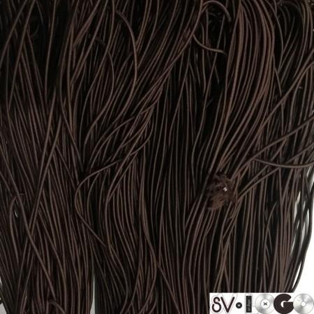 Резинка шнур производство 2,5 см коричневый (50 метров)