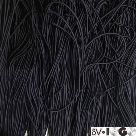 Резинка шнур производство 2,5 см синий темный (50 метров)