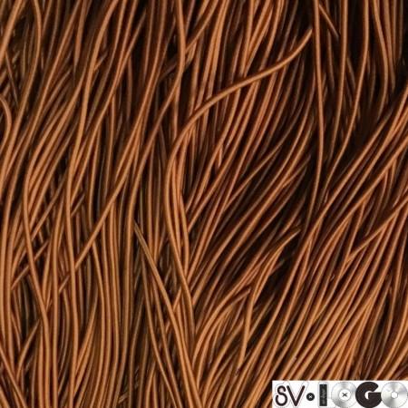 Резинка шнур производство 2,5 см рыжий (50 метров)