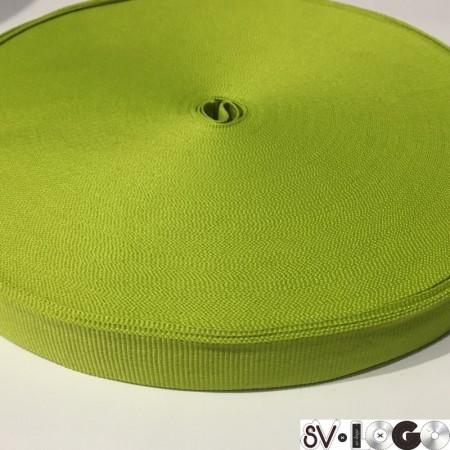 Тесьма репсовая производство 20 мм салатовый (50 метров)