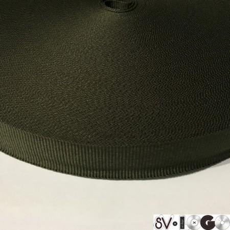 Тесьма репсовая производство 20 мм хаки (50 метров)
