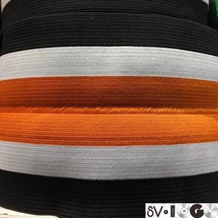 Резинка 130 мм для манжетов рыжий черный белый (метр )