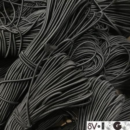 Резинка шнур производство 2,5 см черный  (50 метров)