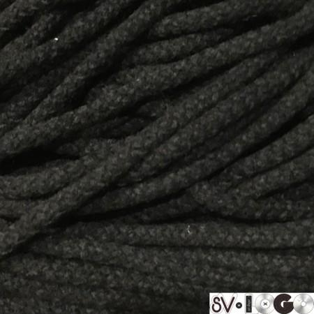 Шнур круглый 8 мм акриловый черный (100 метров)