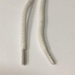 Шнурок куруглый шх 0,8 см 6мм белый (пары)