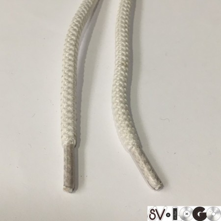 Шнурок круглый 6мм шх 0,8м  белый (пара)