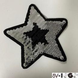 Вышивка апликация клеевая звезда 9х9см  (Штука)