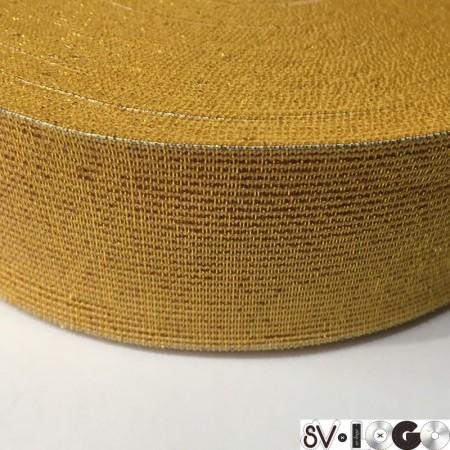Резинка 50 мм золото желтый (25 метров)