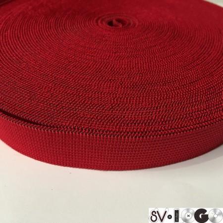 Резинка 20 мм красный (25 метров)
