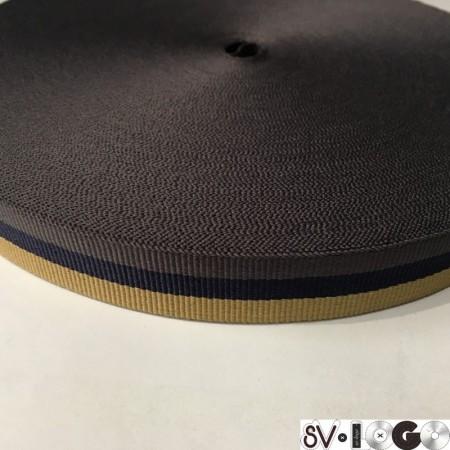 Тесьма репсовая производство 20 мм синяя бежевая серая (50 метров)