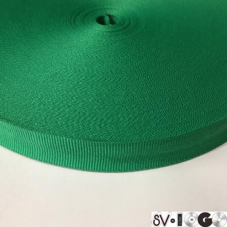 Тесьма репсовая производство 20 мм зеленый (50 метров)