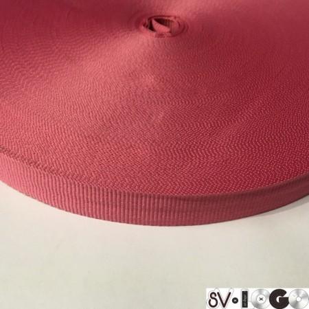 Тесьма репсовая производство 15 мм розовый темный (50 метров)