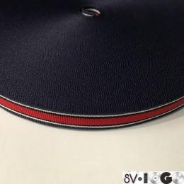 Тесьма репсовая производство 15мм синяя белая красная (50 метров)