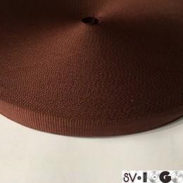 Тесьма репсовая производство 15мм коричневая (50 метров)