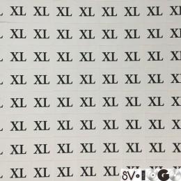 Размеры клеевые (320 на листе) XL (лист)