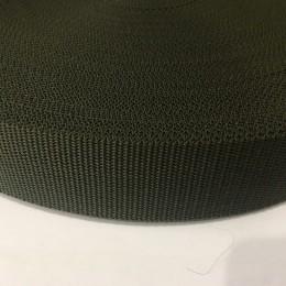 Тесьма-лента ременная производство 40мм хаки репс (50 метров)
