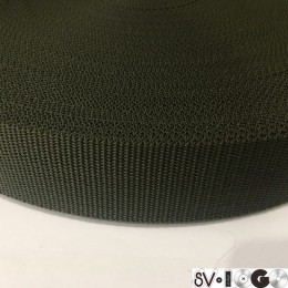 Тесьма-лента ременная производство 50мм хаки репс (50 метров)