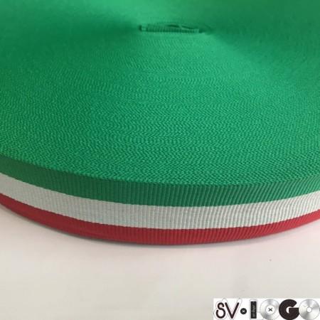 Тесьма репсовая производство 30 мм флаг Италия (50 метров)
