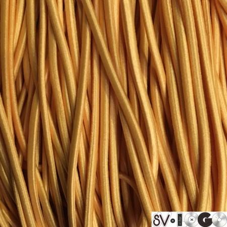 Резинка шнур производство 2,5 см желтый (50 метров)