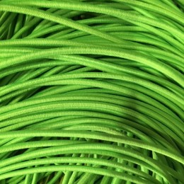 Резинка шнур производство 2,5см зеленый неон (50 метров)