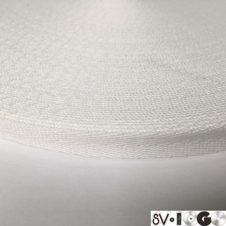Тесьма репсовая производство 10мм белая елка (50 метров)