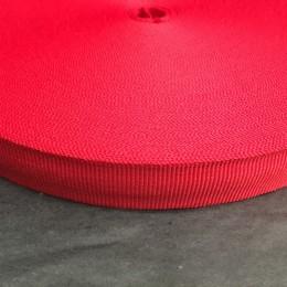 Тесьма репсовая производство 15мм красная (50 метров)