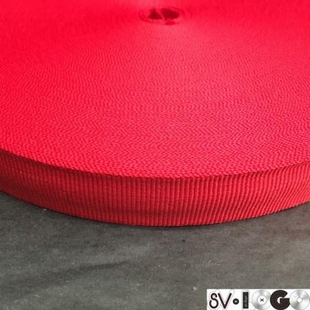 Тесьма репсовая производство 15 мм красная (50 метров)