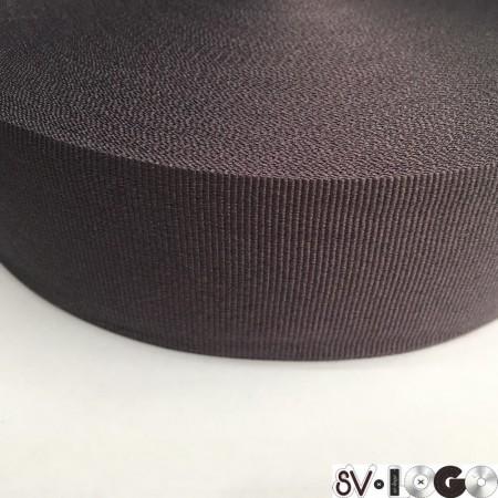 Тесьма репсовая производство 50 мм серый темный (50 метров)